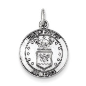 Sterling Silver US Air Force Medal Charm - JewelryWeb