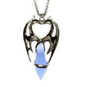 Double Dragon Heart Crystal Keeper Pendant Necklace