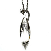 Dragon Love Crystal Keeper Pendant Necklace