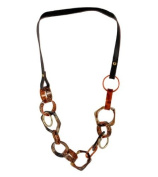 NYK animal print chunky leather necklace