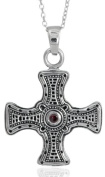 Toucan of Scotland Sterling SIlver St Cuthberts Cross Pendant - 20mm x 20mm with 18 inch curb chain, and supplied in our quality gift box.