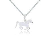 Gemma J Silver Running Pony Necklace