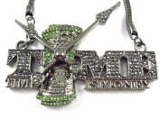 Iced Out Time Is Money Hip Hop Pendant Hematite Franco Chain Hematite