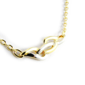 "Necklace plated gold ""Câlin"" 2 tones."