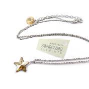 "Necklace silver ""Etoile"" champagne."