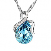 RareLove. Elements Aquamarine Crystal Teardrop pendant necklace