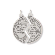 Sterling Silver Mizpah Break Apart Coin Charm Measures 25mm In Diameter - JewelryWeb