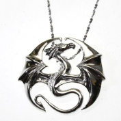Draco Dragon Sterling Silver 925 Pendant Necklace