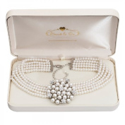 Audrey Hepburn Pearl Necklace Cream With Gift Box