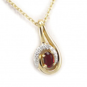 "Gold plated necklace ""Scarlett""ruby."