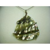 Abalone Tri Wrap Pendant, 46cm chain, Sterling Silver