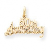 10k 50th Anniversary Charm - Higher Gold Grade Than 9ct Gold - JewelryWeb