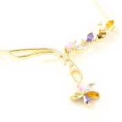"Necklace plated gold ""Scarlett"" multicoloured."