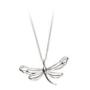 Large Dragonfly Pendant In Sterling Silver Complete With And 46cm Necklace.