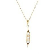 Argent Of London Gold Vermeil 3 Pea Peapod Necklace On 46cm Gold Fil Chain