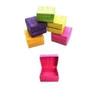 Katangi Handcrafts Hand Made Raffia Boxes (S) Lime Green