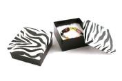 1 x Cotton Filled Zebra Print Multi Purpose Deep Bangle Cuff Box - BD34ZR