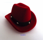 NOVELTY RED COWBOY HAT RING BOX