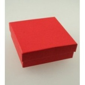 Crystal Red Gift Box With Black Flock Inner.