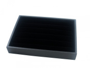 Small Black Velvet Jewellery Display Box for Rings, 5 Continuous slots