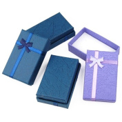 Accessotech 12 x Luxury Cardboard Boxes for Gifts Jewellery Pendant Earring Bracelet Bangle