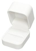 White Leatherette Milan Series Ring Box