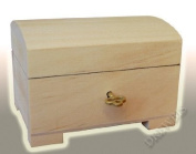 LITTLE NATURAL WOOD / WOODEN BOX HINGED - LOCKABLE PSK10