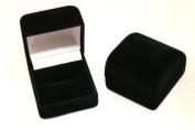 1 x Luxury Black Velvet Ring Box