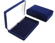 Luxury Blue Velvet Necklace Box