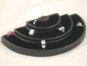 Black Half Round 36 Ring Display Tray