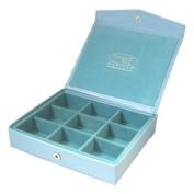 Blue Faux Leather Jewellery Case