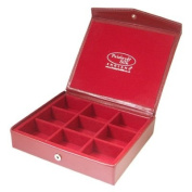 Red Faux Leather Jewellery Case