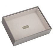 STACKERS 'CLASSIC SIZE' Mink Deep Open STACKER Jewellery Box with Grey Velvet Lining.