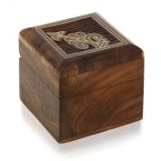Small jewellery gift box wooden for rings earrings cufflinks toe rings