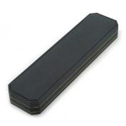 Luxury Black Leatherette Bracelet/ Pendant/ Watch Octagonal Jewellery Box