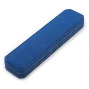 Luxury Blue Leatherette Bracelet/ Pendant/ Watch Octagonal Jewellery Box