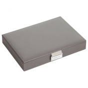STACKERS 'CLASSIC SIZE' Mink Lidded STACKER Jewellery Box with Grey Velvet Lining.