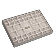 STACKERS 'SUPER-SIZE' - New for 2013 - Mink 41 Section STACKER Jewellery Box with Grey Velvet Lining
