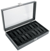 Glass Lid Display Case with 18 Watch/Bracelet Collars