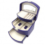 """Jewellery box """"L'audacieuse"""" purple."""