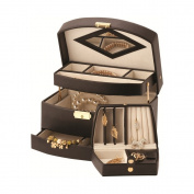 Mele & Co Leather Two Drawer Jewellery Case