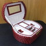 BEAUTY - Faux Alligator Jewellery Case / Box - Ruby