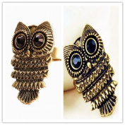 Vintage Art Deco Style Antique Bronze Owl Body Ring