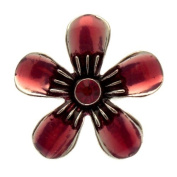 Acosta Rings - Fuchsia Pink Enamel & Crystal - Oversized Adjustable Flower Ring - Fashion Jewellery Gift