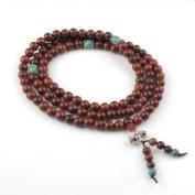 8mm 108 Sandal Wood Beads Tibetan Buddhist Prayer Meditation Mala Necklace