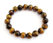Ovalbuy 10mm Tiger Eye Beads Tibetan Buddhist Prayer Wrist Mala