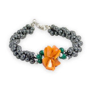 Haematite Bracelet with Coral Beads