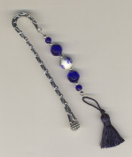 Shades of Blues & Silver Regency Bookmark