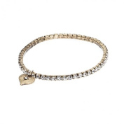 Lovett & Co Tiny Diamante Bracelet Crystal And Brass
