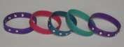 set of five Acrylic Bangle Bracelet , three with. style crystals